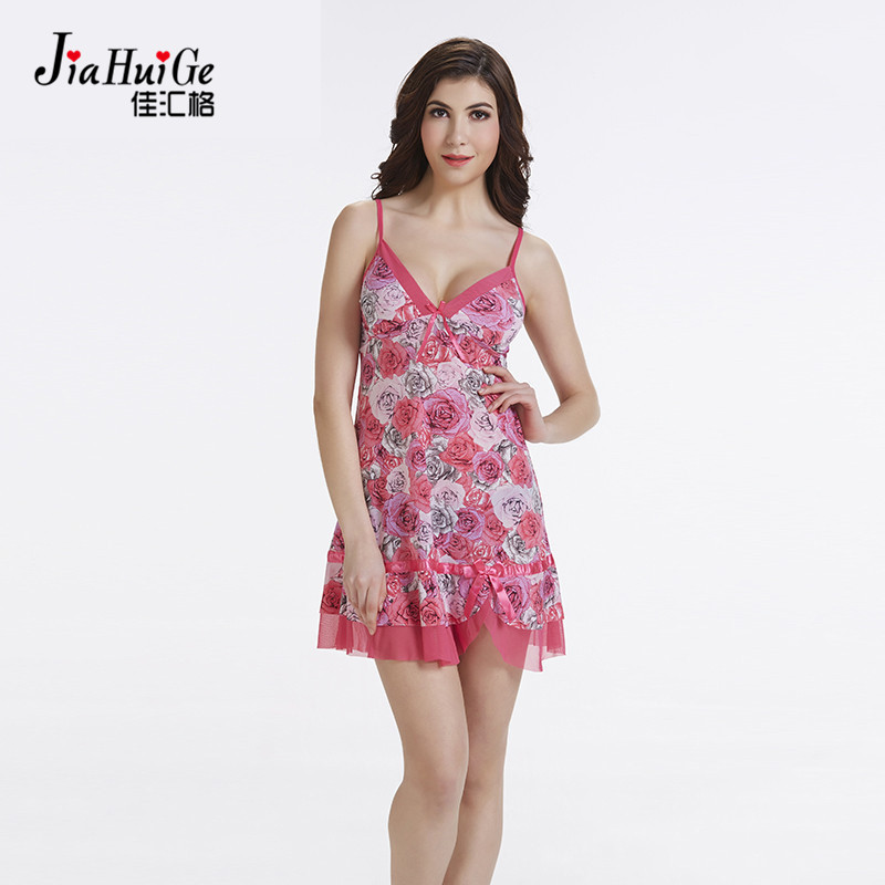 JiaHuiGe Lady Cotton Nightgowns Women Nightwear Night Dress ...