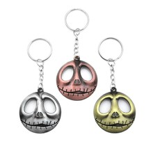 Hot COCO Jack Devil Skull Pumpkin Keychain Cartoon Key Chain Nightmare Before Christmas Jack Devil Skull Mask Men Key Holder майка print bar jack skull