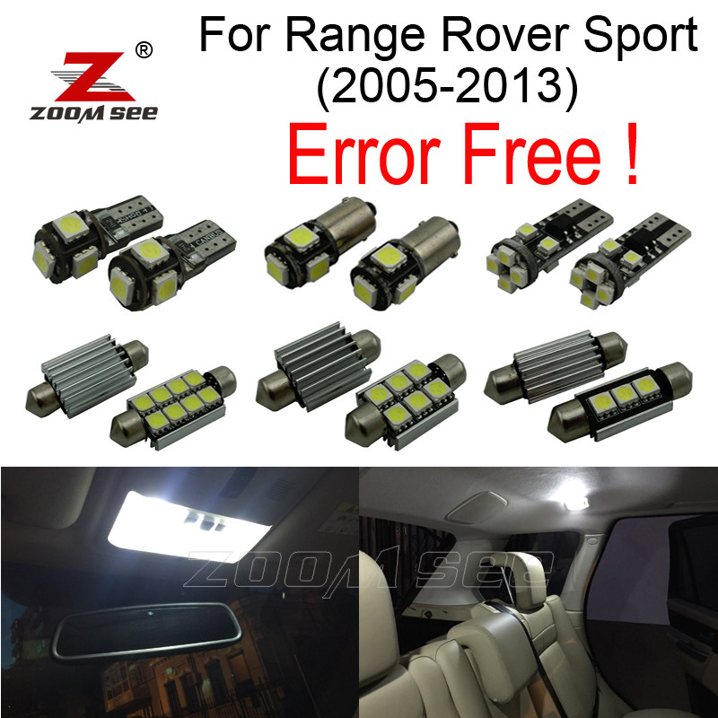 24pcs Error free License plate lamp + interior bulb LED light full kit for Land Rover for Range Rover Sport (2005-2013) keyshare dual bulb night vision led light kit for remote control drones