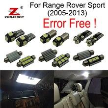 24 шт. Ошибка бесплатный номерного знака + интерьер лампы свет полный комплект для Land Rover Range Rover спорт (2005-2013)