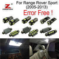 28pcs Error free License plate lamp + interior bulb LED Reading light full kit for Land Rover for Range Rover Sport (2005 2013)