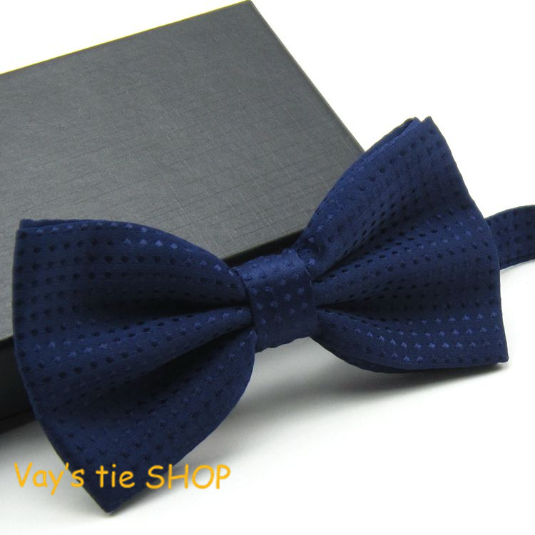 2018 Classic Mens Fashion Dull Jacquard  Blue Dots Suit Bowtie Wedding Tuxedo Party Bow Ties Free Shipping  12.5*6cm