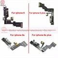 Piezas de reparación para Iphone6 6 s 4.7 Sensor de Luz de Proximidad con el Frente cámara flex cable para apple iphone 6 plus 6 s plus 5.5