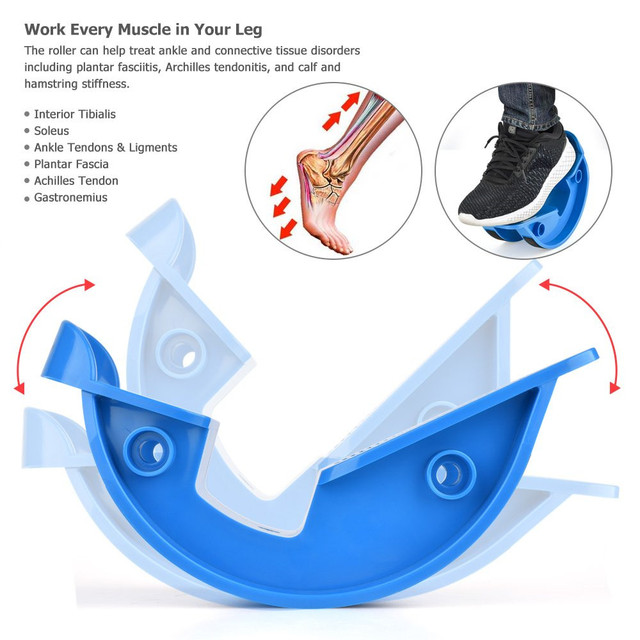 Foot Rocker Calf Stretcher Stretch Board for Fitness Achilles Tendinitis Plantar Fasciitis Pain Relief Stretches Strained Muscle