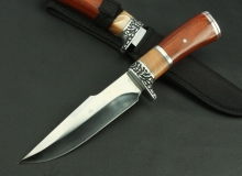 Hunting Tactical Knife Fixed Blade Knife Rescue Tools Glistening 3Cr13Mov Blade Hunting Straight Knife Resin+Wood Handle
