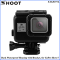 SHOOT  Waterproof Housing for Gopro Hero 5/Black HERO5 45m Waterproof Case Go Pro Hero 5 Accessories free shipping