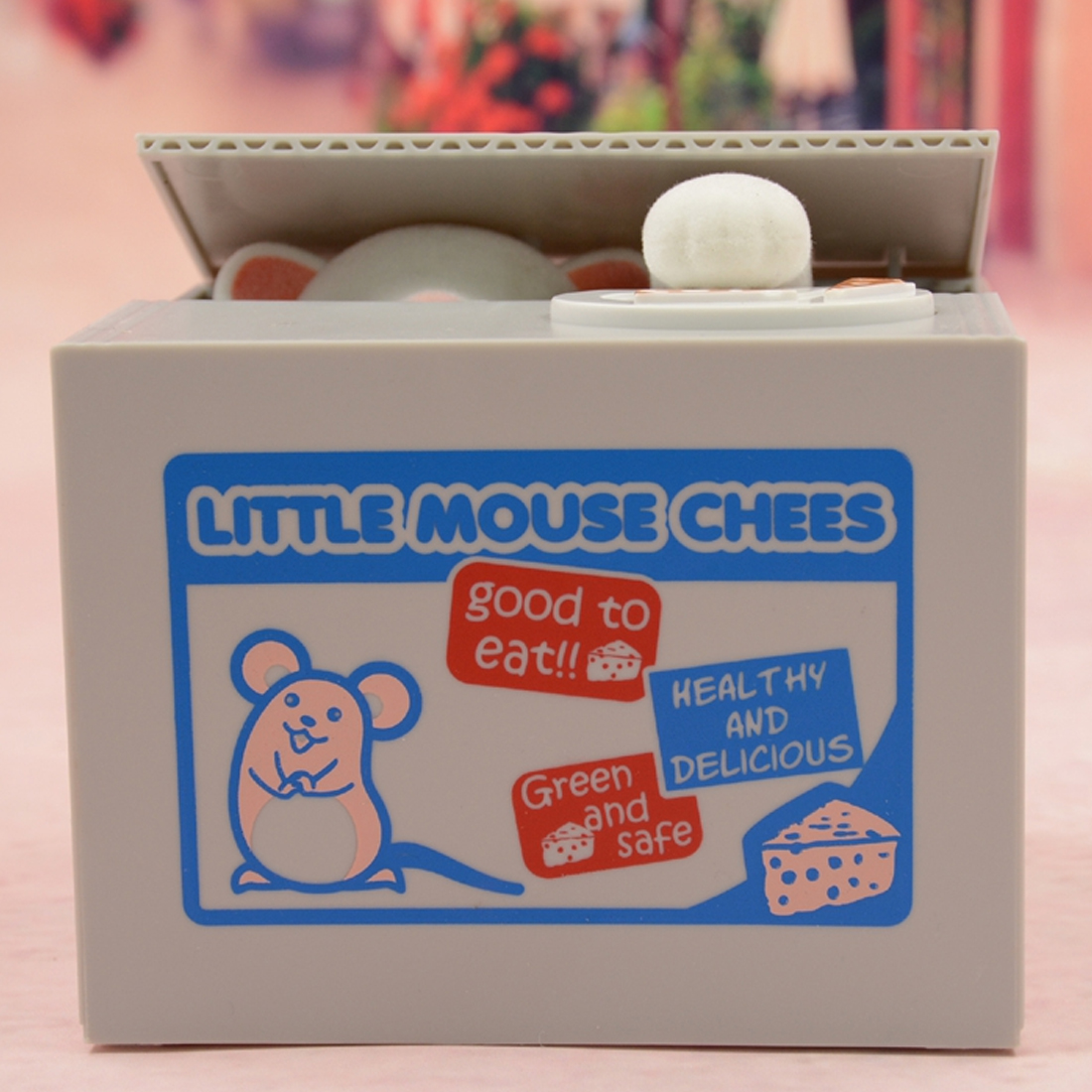 Safe Box Safes Saving Money Coin Bank Gifts for Kids New Super Cute Adorable Cat Stealing Piggy Bank Cat Eat Creative Money Box