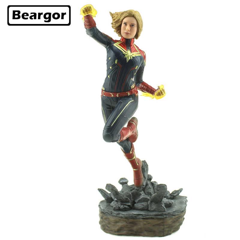 """10 """"супер-герой Марвел Капитан 1/10 шкала в коробке 24 см ПВХ фигурку Коллекция Модель Кукла, подарок для девочки"""
