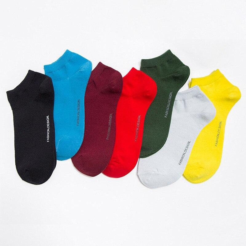 Новое поступление Высокое качество модные однотонные Для мужчин Носки для девочек Летние низкие Хлопковые Короткие Носки Happy Носки для дев...