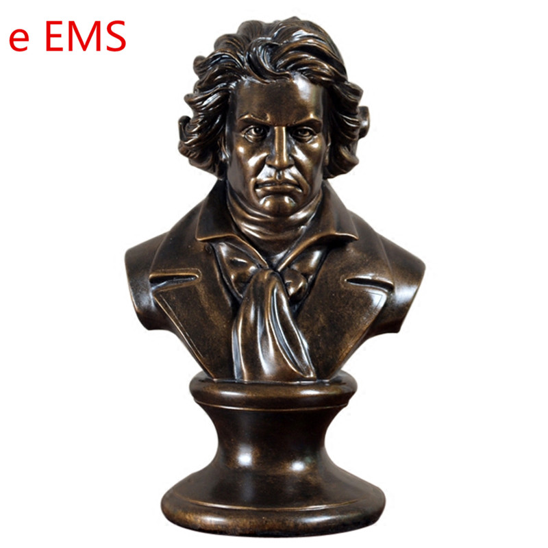 Western Classical Ludwig Van Beethoven Bust Statue Franz Joseph Haydn Resin Craftwork Home Decorations Art Material L2352 retro music ludwig van beethoven bust franz joseph haydn statue colophony crafts sketch teaching collectible decorations l2352