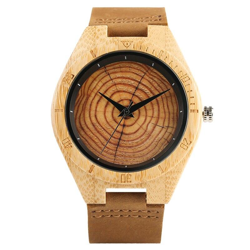 Trendy Stylish Hand-made Quartz Wooden Watches for Men Women Wood Grain Genuine Leather Wristband Clasp Wristwatch цена