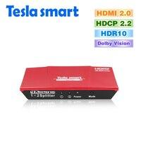 Tesla Smart HDMI 2 0 Version 4K 3840 2160 60Hz 1080P 2 Port HDMI Splitter 1x2