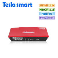 Tesla Smart HDMI 2 0 Version 4K 3840 2160 60Hz 1080P 2 Port HDMI Splitter 1x2