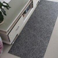 Hall dust mats Thicken Plastic foam anti slip mat PVC Rectangular stripe waterproof Bathroom carpet kitchen DIY Foam carpet