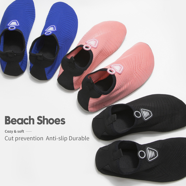 Men Women Beach Summer Outdoor Wading Shoes Swimming Surf Sea Slippers Quick-Dry Aqua Shoes Unisex Soft foldable Water Shoes 4