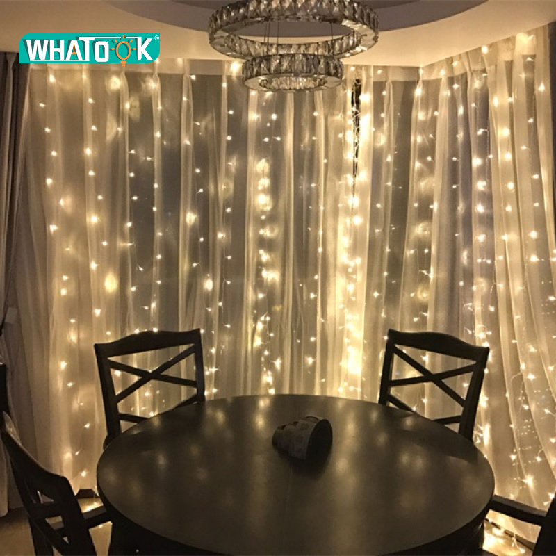 Us 37 49 25 Off 6m X 3m Led Strip Large Curtain Lighting Decoration Outdoor Indoor House String Lights Christmas Windows Party Xmas Bright 220v In