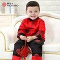 Mopopo Китайский Тан Национальный Стиль Теплый Мальчик Зимней Одежды Cotoon 2017 Детская Одежда Мальчик Установить Новорожденных С Длинным Рукавом Одежда