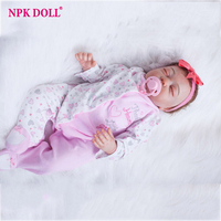 20 inches Handmade Doll Reborn Lifelike American Girl Newborn Bebe Dolls Silicone Vinyl Baby Toddler Toy Kids New Year Gift