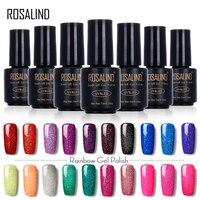 ROSALIND Nail Gel Polish Rainbow Colors 2017 Fashion Neon Soak Off UV Colorful Art For Long-lasting Nail Gel varnishes