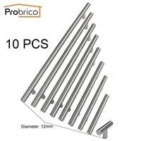 Probrico 10PCS Cabinet T Bar Handle Diameter 12mm CC 50mm 320mm Stainless Steel Furniture Drawer Knob