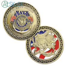 1/3/5/10pcs US Navy Chiefs Challenge Coin Power of Positive Leadership Naval Military Gifts for Veteran Friends and Lovers