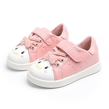 COZULMA New Kids Shoes for Girls Soft Leather Bottom Cute Bow Sneakers Baby Sport White Children