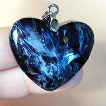 Newly Natural Blue Pietersite Chatoyant Heart Pendant 31x27x9mm For Women Men Reiki Stone Crystal Gemstone Fashion Namibia AAAAA