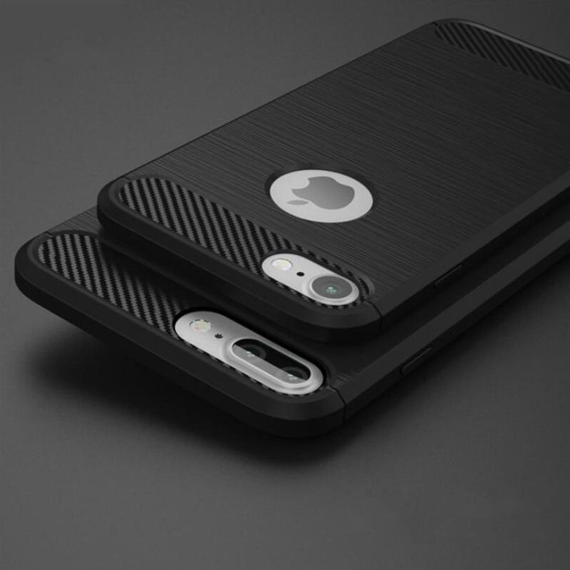 for iphone 7 plus iphone 8 plus Case Cover 5 5S SE Black Luxury Coque phone Case for iphone 6S 6 s Plus iphone X 10 Accessories