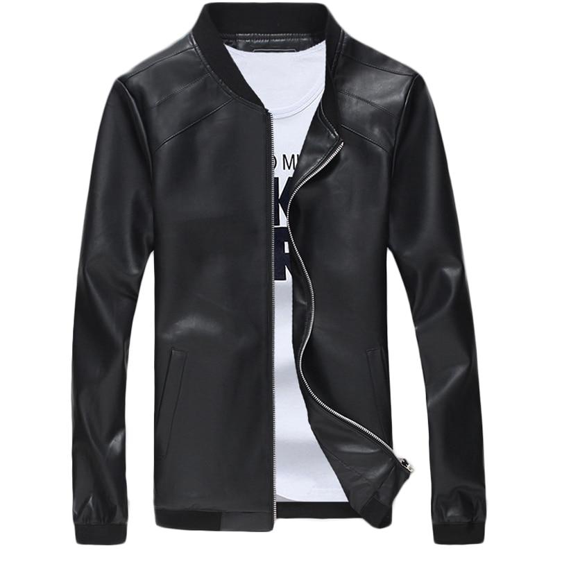 New Bomber Jacket Men Overcoat Casual Jackets Mens Pu Leather Outwear Windbreaker Coat Masculina Vestehomme Clothing Men's Clothing