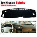 Salpicadero del coche estera cubierta para Nissan Sylphy 2000-2006 años con volante a la Izquierda salpicadero tablero cojín cubre auto dashboard accesorios