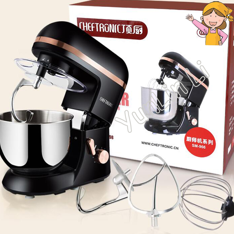 1000W Multi-functional Chef Machine 220V Electric Egg Beater / Dough Kneading Machine / Food Mixer / Milk Machine SM-966