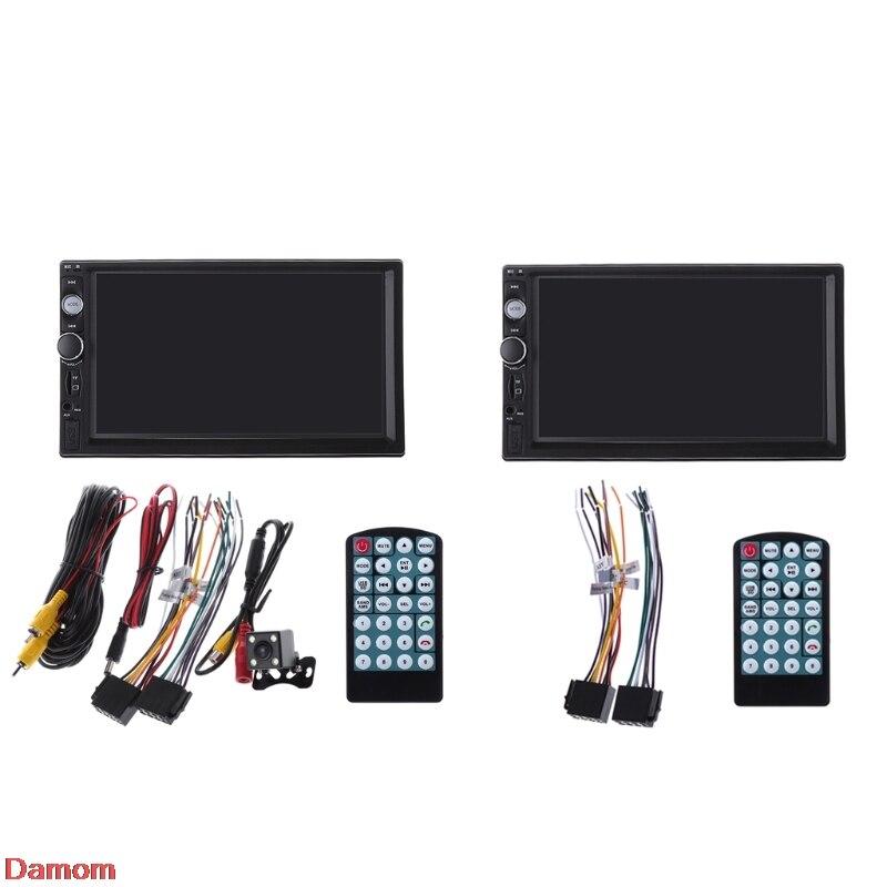 7 pouces 2DIN Voiture MP5 Lecteur Bluetooth Écran Tactile Stéréo Radio HD Moniteur Lecteur
