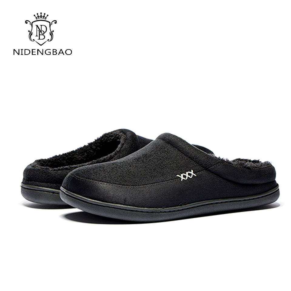 Brand Winter Men's Cotton Slippers Bedroom Thickening Sandals Shoes For Men Fashion Flat Casual Shoes Men Soft Soles Big Size 50