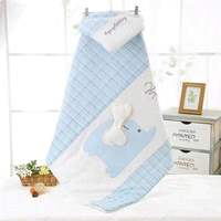 Spring Baby Blanket Quilt Cartoon Elephant Quilt Plaid Design Envelopes For Newborn Wrap Stroller Cover Baby Swaddle 100×100Cm