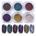1 Box 2g 3D Cat Eye Magnet Nail Powder Magic Magnetic Glitter Dust UV Gel Manicure Nail Art Pigment