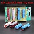 1:50 aleación tire hacia atrás trenes de juguete, alta simulación de aleación de juguetes de fundición, los niños de juguetes educativos preferidos, envío gratis