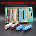 1:50 alloy pull back toy trains, high simulation alloy die-cast toys, children's favorite educational toys, free shipping