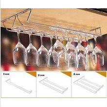 2016 New Stainless Steel Cabinet Wine Glass Rack Kitchen Dining Bar Goblet Holder Hanger 08WG