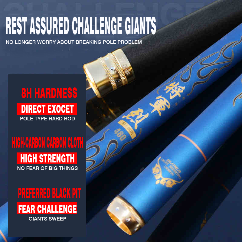 New 8H 28 ultralight superhard carbon Taiwan fishing rod tune tune 19 meters fishing rods 4.5.4
