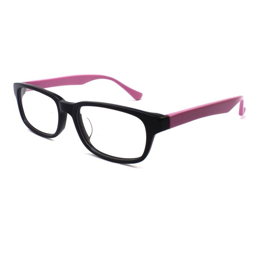 Big Square Lens Acetate Glasses Frame Women Lady Black Frame Pink