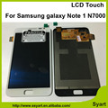 Alta qualidade bom preço oem lcd para samsung galaxy note 1 I9220 N7000 Branco Cinza + free portagens Display LCD Touch Screen Digitador