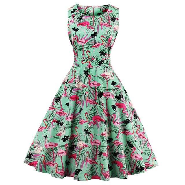 92b6c0a64 vestido 60 50 s 4XL s Kenancy Plus Size Vintage mujeres Retro qTI11w