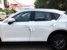 Стайлинга автомобилей Аксессуары для экстерьера окна Сталь Visor Vent Защита от солнца Дождь гвардии накладка 6 шт. для Mazda CX-5 CX5 2nd Gen 2017 2018