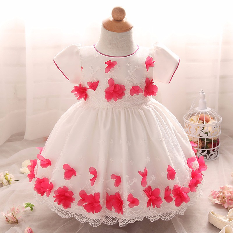Baby Girls Dress 2016 New Fashion Kids Princess Birthday Party Tulle Wedding Dresses Christmas Dress Newborn Infant Clothes 0-2Y-2
