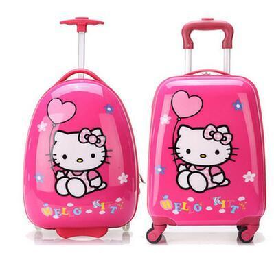 """16 """"18"""" pulgadas Luxury Brand Niños Equipaje De Viaje Caso Supremo rodando equipaje de la Carretilla del niño de la Historieta Bolsa de Los Niños maleta con ruedas"""