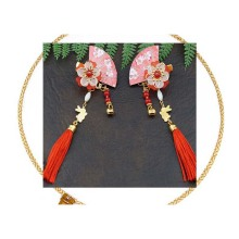 1PCS Multi Girls Flower Fan Hairpins Chinese traditional headdress handmade For women jewelry gift Style Tassel hair
