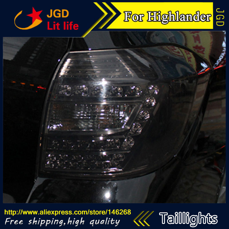 Car Styling tail lights for Toyota Highlander 2009 2010 2011 LED Tail Lamp rear trunk lamp cover drl+signal+brake+reverse high quality car styling 35w led car tail light for toyota highlander 2015 tail lamp drl signal brake reverse lamp