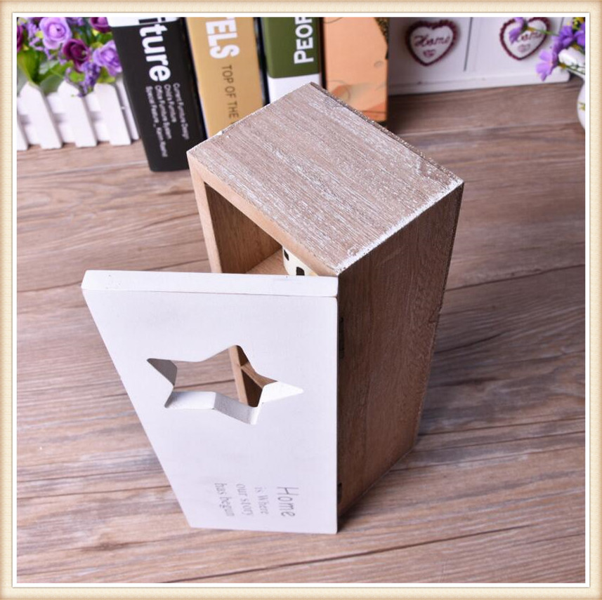 New Retro Wooden Box With Old Treatment 3 Grid Storage Household Box
