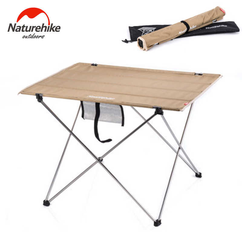 Foldable Camping Picnic Table Portable Compact Folding Roll Up In A Bag Lightweight