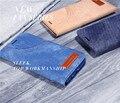 Lujo de kalaideng funwear-una serie de lienzo denim + pu funda de piel cubierta tirón de la carpeta para samsung galaxy s7/s7 edge jean cajas del teléfono